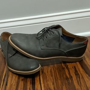 Men's gray dress shoes